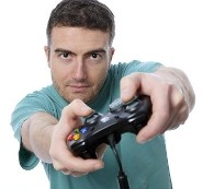 Man with Video Game Controller
